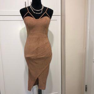 Beautiful sexy faux suede dress